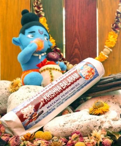 Благовония Krishna Balaram 250 грамм упаковка (Вриндаван) - 1