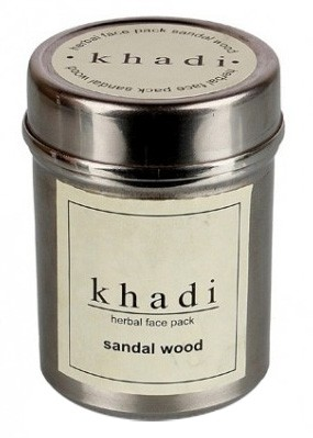Маска д/лица Сандал Кхади (сухая) (Herbal face pack, Khadi), 50 гр - 1