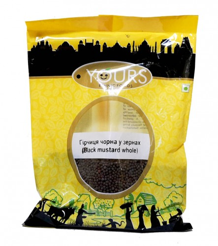Черная горчица, крупная (Yours Ethnic Food) 100 грамм. - 1