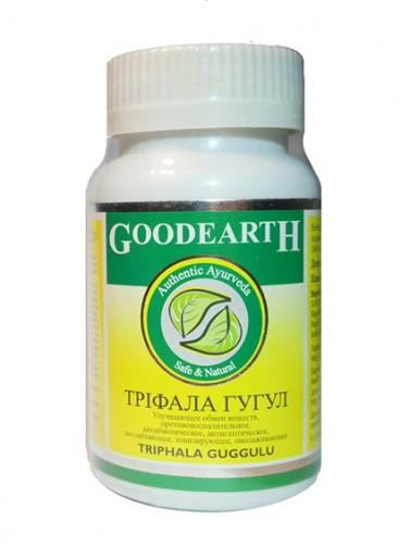 Трифала Гуггул (Triphala guggul,GoodEarth) 60 кап - 1