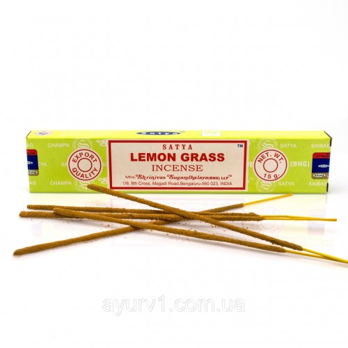 Благовония Лемонграсс, Сатья (LEMON GRASS, Satya) 15 гр - 1