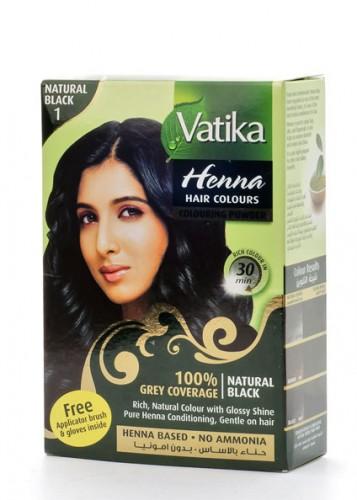 """Краска на основе хны """"Черный"""" (Vatika Henna Black), 60 грамм - 1"""
