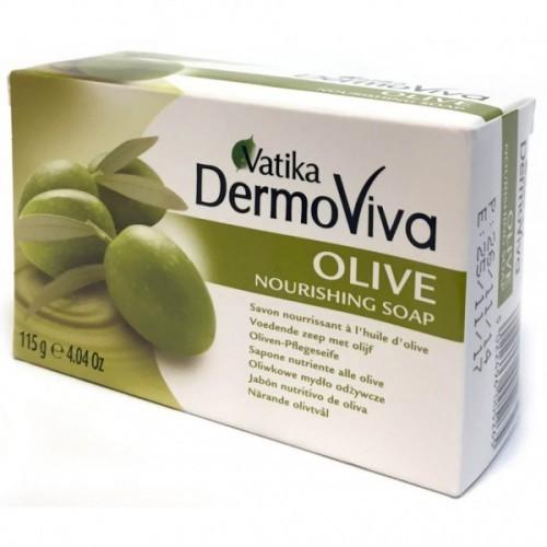 Мыло Ватика питательное Олива (Vatika DermoViva Naturals Nourishing Olive), 115 гр - 1