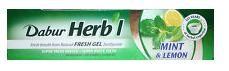 Зубная паста-гель Мята и Лимон, Дабур (Тoothpaste Mint & lemon, Dabur) 80 гр - 1