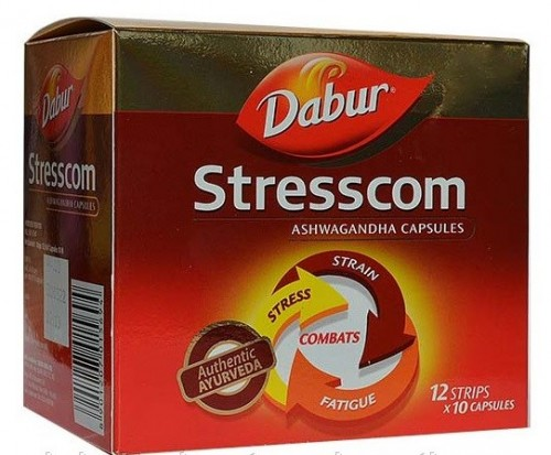 Стресском, Дабур, Экстракт ашвагандхи (Stresscom, Dabur) 120 таб - 1