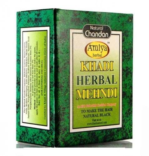 Хна для волос Черная Кхади (Khadi Herbal Mehndi) 100 грамм. - 1