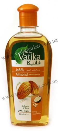 Масло для волос Ватика с Миндалем (Dabur, Vatika) 200 мл - 1