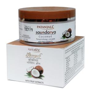 Питательный крем для лица с кокосом Саундарья, Патанджали (Saundarya Сoconut Nourishing cream, Patanjali) 50 гр - 1