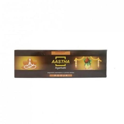 Благовония с ароматом Шанти Патанджали (Aastha Agarbatti, Patanjali) 20гр - 1