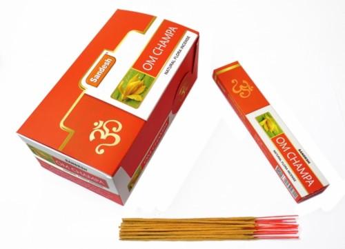 Благовония Sandesh OM Champa 15 палочек в пачке 15 грамм - 1