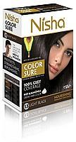 Безамиачная стойкая крем-краска для волос Nisha с маслом авокадо Светло-черная №1.5 - 1