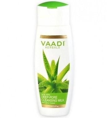 Молочко для лица Алое Вера и Лимон, Ваади (Aloe Vera DeepPore Cleansing Milk, Vaadi) 110 мл - 1