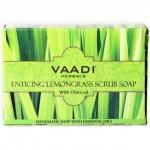 Мыло скраб Лемонграсс, Ваади (Lemongrass Scrub Soap, Vaadi) 75 гр