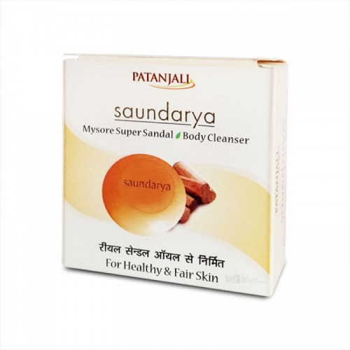 Очищающее Крем мыло Сандал Саундарья (Saundarya, Patanjali) - 1