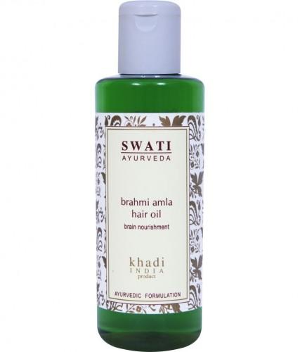 Брахми Амла масло (Brahmi Amla oil, Khadi), 210 мл - 1