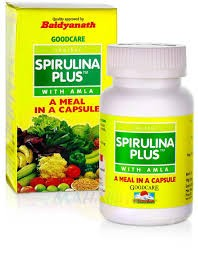Спирулина Плюс Амла, Гудерз (Spirulina Plus, Goodearth) 60 кап - 1