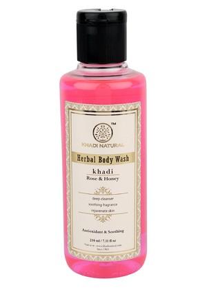 Гель для душа Роза и Мед, Кхади (Khadi Herbal Body Wash Rose and Honey) 210мл - 1