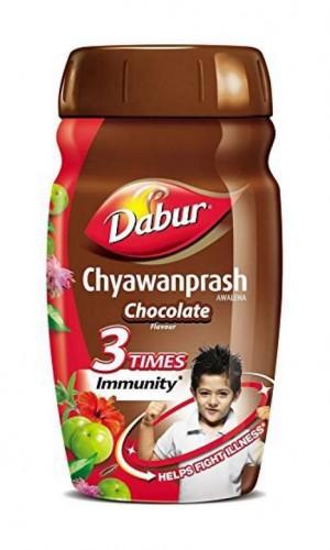 Чаванпраш детский со вкусом шоколада, Дабур (Chyawanprash Chocolate, Dabur) 500 гр - 1