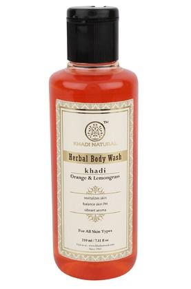 Гель для душа Апельсин и Лимонная трава, Кхади (Khadi Herbal Body Wash) 210 мл - 1
