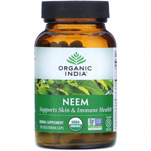 Ним, Органик Индия (Neem, Organic India) 60 кап - 1