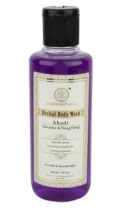Гель для душа Лаванда и Иланг-Иланг, Кхади (Khadi Herbal Body Wash) 210 мл - 1