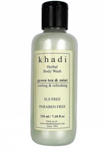 Гель для душа Зеленый Чай и Мята Кхади (Khadi Green Tea and Mint Body Wash), 210 мл - 1