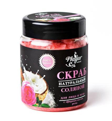 Соляной скраб с эфирными маслами Розы (MaYur) 250 гр. - 1