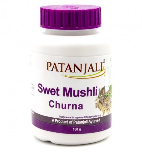 Сафед Мусли Чурна для укрепление иммунитета, Патанджали (Swet Mushli Churna, Patanjali) 100 гр - 1