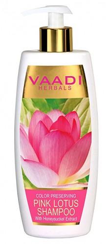 Шампунь Розовый Лотос и Мед, Ваади (Pink Lotus Shampoo, Vaadi) 350 мл - 1