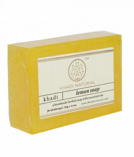 Мыло Лимон, Кхади (Herbal Lemon Soap, Khadi) 125 гр - 1