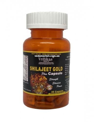 Шиладжит Голд, Вритикас (Shilajit Gold, Vritikas) 30 капс - 1