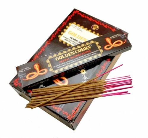 Благовония Golden Cobra (New India perfumery Works) 15 палочек - 1