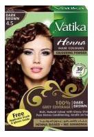 """Краска на основе хны """"Каштановый"""" (Vatika Henna Dark brown) 60 гр. - 1"""