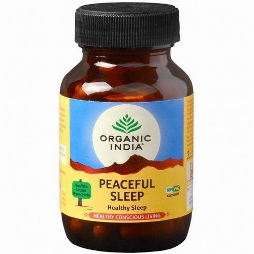 Здоровый сон, Органик Индия (Peaceful Sleep, Organic India) 60 кап - 1
