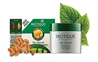 Био Миндаль крем для век (Biotique Almond under eye cream), 15 гр - 1
