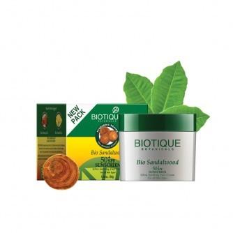 Био Сандал крем SPF 50 с UVA/UVB фильтрами, Биотик (Bio Sandalwood cream Biotique) 50 гр - 1