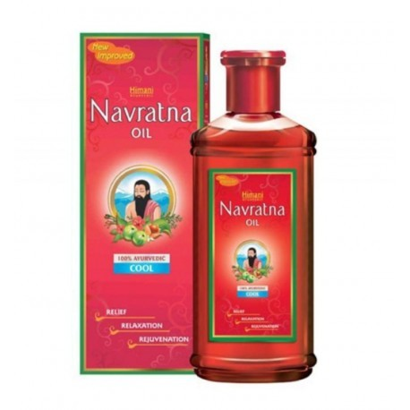 Масло для волос и массажа Навратна, Химани (Oil Thanda Navartna, Ximani) 100 мл - 1