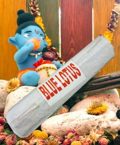 Благовония Blue Lotus 250 грамм упаковка (Вриндаван) - 1