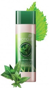 Шампунь-кондиционер Био Хна (Biotique Bio Henna Leaf), 190 мл - 1