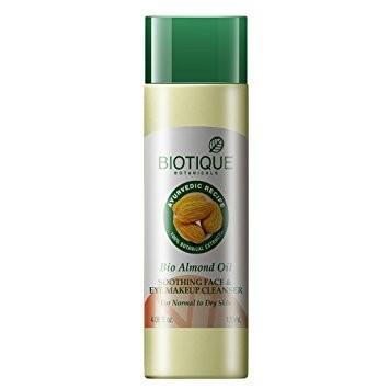 Био миндальное масло д/снятия макияжа (Biotique Almond oil cleanser), 120 мл - 1