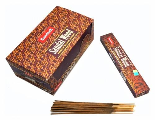 Благовония Sandesh Sandal Wood 18 палочек в пачке 15 грамм - 1