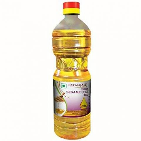 Кунжутное масло, Патанджали (Sesame Oil, Patanjali) 500 мл - 1