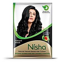 Краска Ниша безаммиачная Черная (Nisha Henna based hair color, Black) 20 гр. - 1