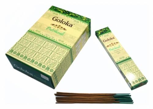 Благовония Goloka Patchouli 13 палочек в пачке 15 грамм - 1
