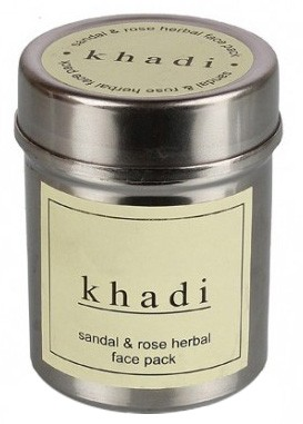 Маска д/лица Сандал и Роза Кхади (сухая) (Herbal face pack, Khadi) 50 гр. - 1