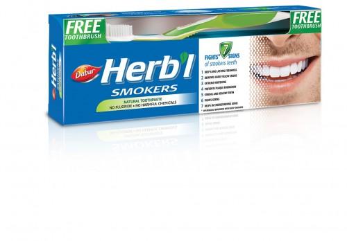 Зубная паста для курящих, Дабур (Toothpaste Smokers, Dabur) 150 гр + з/щетка - 1