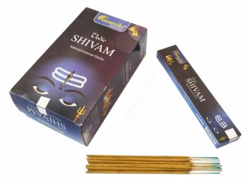 Благовония Aromatika Vedic Shivam примерно 9 палочек в пачке 15 грамм - 1