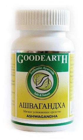 Ашвагандха, Гудерз Фарма (Ashwagandha, Goodearth Pharma) 60 кап - 1