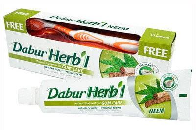 Зубная паста Ним, Дабур (Тoothpaste Neem, Dabur) 150 гр + з/щетка - 1