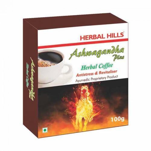 Кофе Ашвагандха Плюс, Хербал Хилс (Ashwagandha Plus Coffee Antistress, Herbal Hills) 100 гр - 1